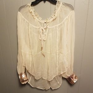 Free people sequin blouse